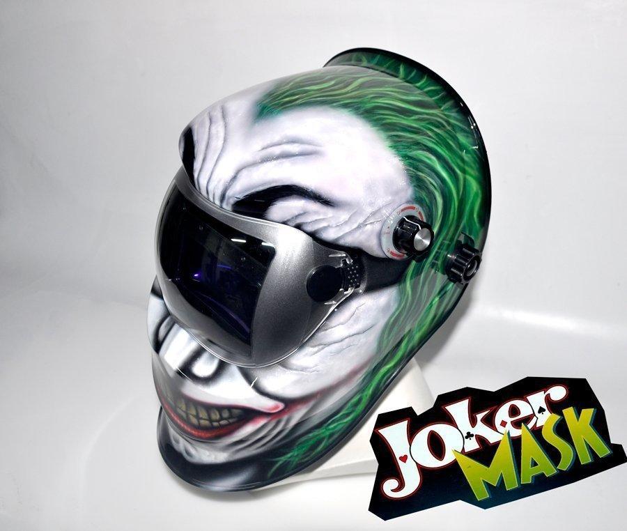 Aerograf a de joker en mascara de soldarair custom paint - Mascara de soldar ...