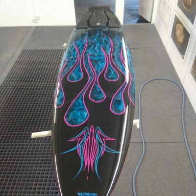 Tabla de surf fuego azul
