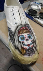 "Zapatillas con Calaveras Mexicanas ""Boda de Calaveras"" por Air Custom Paint 00"