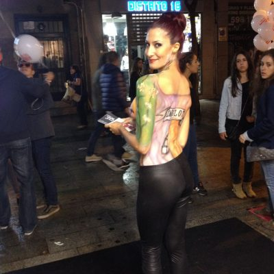 Body Paint para Inglot Cosmetics en la Vogue Fashion Night Out Madrid