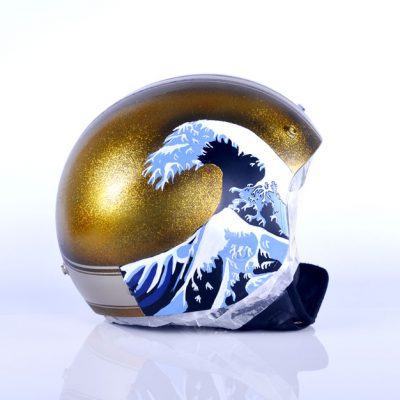 AIR CUSTOM PAINT - Casco Ukiyo-e Flakes Candy Lettering
