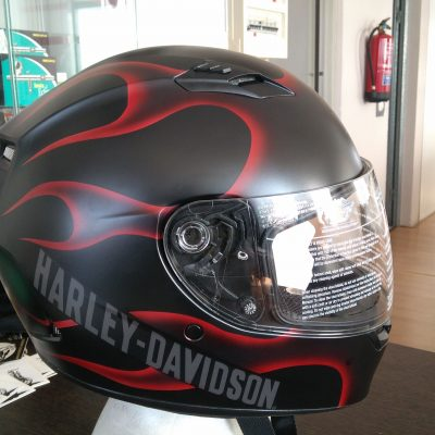 Casco Harley Davidson Red Flames