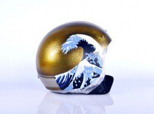 AIR CUSTOM PAINT - Casco Ukiyo-e Flakes Candy Lettering 08